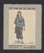 North Vietnam War Propaganda stamp Scenes of war Female Guerilla # 548
