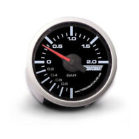 Genuine Turbosmart 52mm Boost BAR gauge Black with white illumination