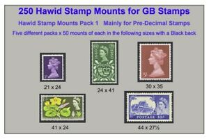 Hawid Mounts x 5 Different Sizes x 50 of each size = 250 Mounts  SAVE 40%  £7.95