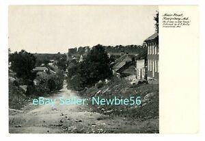 Sharpsburg MD - VIEW DOWN MAIN STREET - c1906 Postcard Civil War History