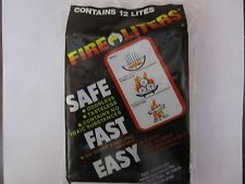 Fire Liters Fire Starter Cubes #00101 12 lites Safe, Fast, & Easy New