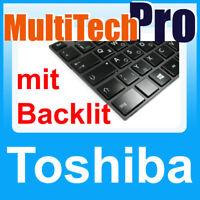 DE Tastatur Toshiba Satellite L950 L950D L955 L955D Series mit Backlit schwarz