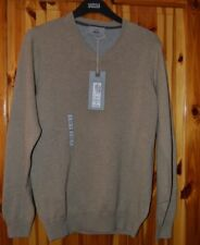 MEN`S M&S V NECK  BEIGE JUMPER SMALL 100 % COTTON