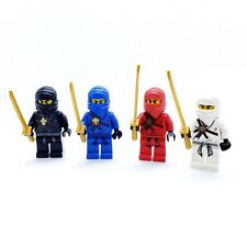 LEGO Minifigures Lot of 4 Ninjago Golden Weapons Ninjas Jay Zane Kai Cole Katana