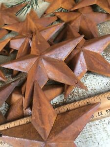 """8 ~ Rusty Barn Stars 5.5 in 5 1/2"""" Dimensional Craft Supply Country Farmhouse"""