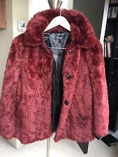 TOPSHOP Faux fur coat Size Uk 8