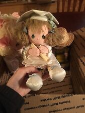 Vintage Lot 9 Dolls 80s Precious Moments Dolls Musical Graduation Babydoll Toy