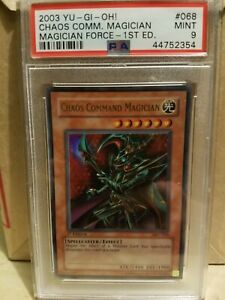 Yu-gi-oh! MFC-068 1st Chaos Command Magician -Magician's Force PSA 9 MINT US NEW