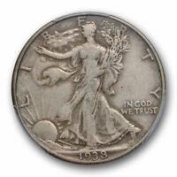 1938 D 50C Walking Liberty Half Dollar PCGS VF 30 Very Fine to Extra Fine Key...