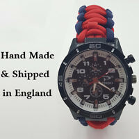 Paracord Watch in The Guards Independent Parachute Company (GIPC) Colours