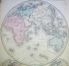 Eastern Hemisphere Lithography Antique World Maps & Atlases for sale ...