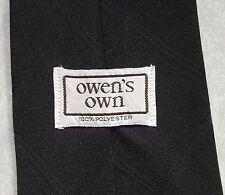 OWEN'S OWN DARK BROWN VINTAGE WIDE TIE RETRO 1970'S MOD CASUAL