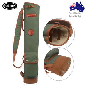 Tourbon Golf Bags Club Carry Bag Sunday Case Travel Pack Canvas & Leather AUPOST