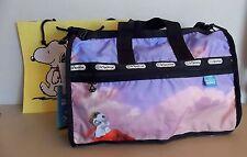 "NEW-""LeSportsac x Peanuts""-SNOOPY over Paris-7184 Medium Weekender Travel Bag"