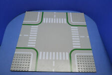 Lego Platte 32x32 Straßenplatte 607p01 Kreuzung althellgrau 9 Stud Set 6304 1060
