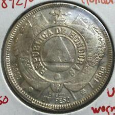 1892/0 Honduras 1 One Peso - Struck with Worn Dies