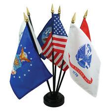 Militaire des Forces Armées 5 Branche Service Miniature Drapeau Bureau Set Table