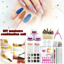 1 Set Full Acrylic Powder Nail Art Tool Set Tips Brush Manicure Tool P5T1