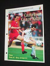 Parma ac Antwerp Antwerpen 1993 european cup final c2 sheet soccer xl passion