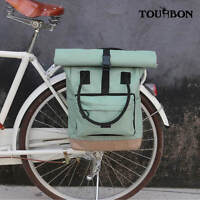 Tourbon Roll Top Backpack Nylon Bike Laptop Backpack Single Pannier Rack Carrier