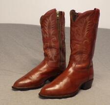 Vintage Tony Lama Western Cowboy Leather Full Side Zipper boots men's size 8Ee