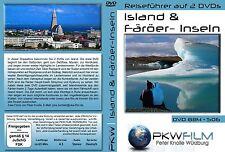 Island DVD + Färöer Inseln DVD sehr ausführlich rundum, querdurch, 2 Reiseführer