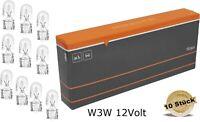 10x BLUETECH® W3W 12V 3W Standlicht Kennzeichenlicht Autolampen T10 Glassockel