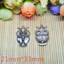 8pcs Tibetan Silver owl Charm Pendant Bead Jewellery Making 21x33mm