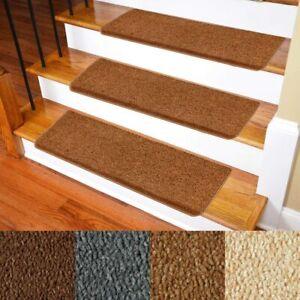 "Patavin Stair Mats -  Non-Slip Bullnose Carpet Stairs Treads Set of 14 -10""×30"""