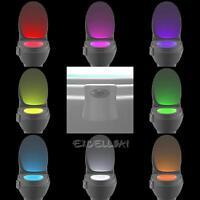 8 Color Body Sensing Automatic LED Motion Sensor Toilet Bowl Night Light Magic