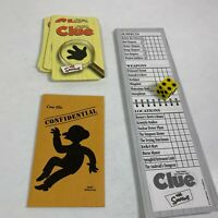 The Simpsons Clue Game Replacement Pieces Pad Cards Envelope Dice 1st Edition