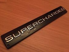 SUPERCHARGED BLACK CHROME BADGE RANGE ROVER VOGUE HSE AUTOBIOGRAPHY SPORT
