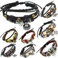 Leder Armband Unisex!Surferarmband Herren Leather Bracelet TIB29