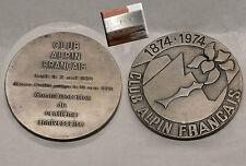 Medaglia bronzo color argento militare Francia alpini francais centenario mm65