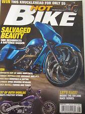 Hot Bike Magazine August 2011 Salvaged Beauty Sturgis Buffalo Chip Hardtails a s
