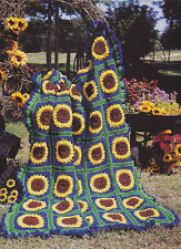 Crochet Pattern ~ EXHILARATING SUNFLOWER AFGHAN ~ Instructions