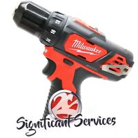 "NEW MILWAUKEE 2407-20 M12 12V 12 Volt LED Cordless Lithium-Ion 3/8"" Drill Driver"