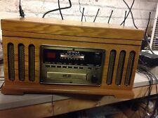 Oak Detrola KM837 Record Player CD Cassette Am/fm for Parts or Repair