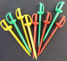 Glorious 1970s Cocktail Sticks - 9 of them