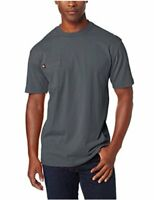 Dickie's Men's Heavyweight Crew Neck Short Sleeve, Charcoal, Size X-Large Tall 4