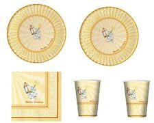 COORDINATO TAVOLA CRESIMA set piatti tovaglioli bicchieri Addobbi tavola Eventi