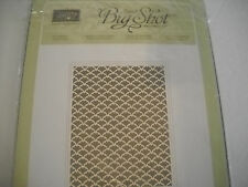 "Sizzix Big Shot Stampin Up Letterpress Fancy Fan, 8""x5-13/16"""