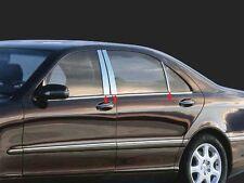Fits Mercedes S-Class 2007-2013 QAA Stainless Chrome Polished Pillar Posts 6PCS