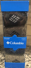 NEW-Columbia Men's 4-PACK Blue & Gray & Tan Crew Socks Fits Shoe SZ: 6-12 NIB