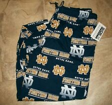 NOTRE DAME MEN'S All Over Print Pants Size 3XL NWT Pockets Drawstring