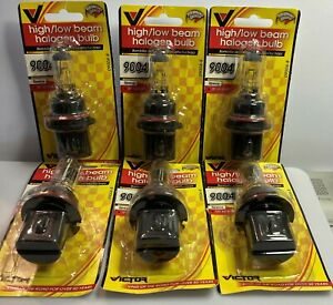 Lot of 6 Victor High/Low Beam Halogen Bulbs P/N 9004
