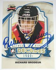 RICHARD BRODEUR SIGNED 11-12 ITG BETWEEN THE PIPES CANUCKS CARD AUTOGRAPH AUTO!!