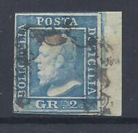 AA.285 Italy stamp, 1859, Sicilia, III tavola, 2 gr.