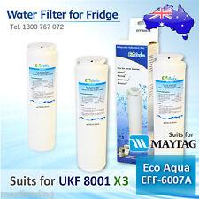 3x ECO AQUA EFF-6007A REPLACEMENT Amana Maytag UKF8001AXX Fridge Water Filter