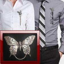 Swallowtail Butterfly C6 Brooch drop hoop Holder For Glasses , Pen , ID